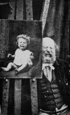 rejlander gustav ---- I like this image because of the humour in the face of the man. He's taken a photo of a crying baby and displayed such a raw expression of humour. I hope to achieve this in my photos but with different emotions.