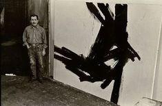 Franz Kline en su estudio