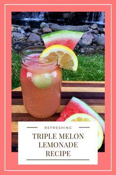 Summer Drink Recipes, Drinks Alcohol Recipes, Summer Drinks, Alcoholic Drinks, Beverages, Cocktails, Melon Lemonade, Best Mixed Drinks, Recipe R