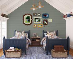 organic bloom frames boys room blue photograph display