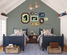 organic bloom frames boys room blue photograph display