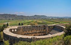 Enjoy outdoor theatre during Turkey's Aspendos Festival, which starts in June. #Travel #Turkey #Drama