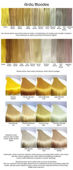 #colores #colours #cabello #hair #ColoresFantasia #FantasyColours #amarillos #yellow