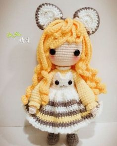 Mesmerizing Crochet an Amigurumi Rabbit Ideas. Lovely Crochet an Amigurumi Rabbit Ideas. Crochet Hook Set, Crochet Cross, Cute Crochet, Amigurumi Doll, Amigurumi Patterns, Doll Patterns, Knitted Dolls, Crochet Dolls, Crochet Doll Pattern
