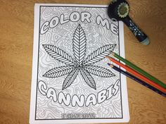40 Marijuana Themed Coloring Pages for Stoners, Instant Digital Download of Color Me Cannabis