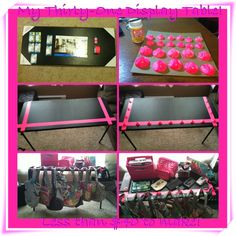 My Thirty One display table! I got all if the products from Walmart for around $40. :)  Table by Abbie Cooper Schmitt