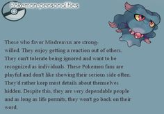 """Misdreavus - this description reminds me of one of my characters somewhat. And even the fact that the name sounds like """"mischievous"""" ;)"""