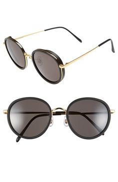 bebf76bce47 GENTLE MONSTER 53mm Round Retro Sunglasses available at  Nordstrom Retro  Sunglasses