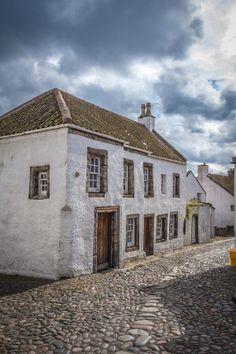 The Beautiful Cobbled Streets Compliment Solid Thick Walled Stone Houses Of Culross Scotland