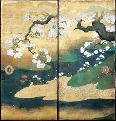 From exhibition on the ancient city of Kyoto through panels and folding screens. Tokyo National Museum