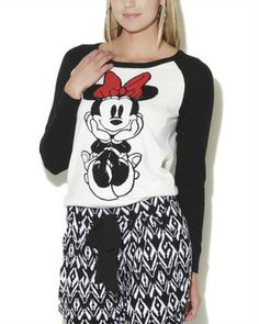 Raglan Minnie Mouse on shopstyle.com