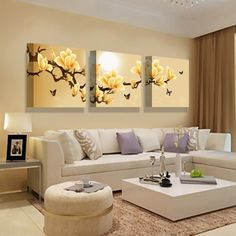 pictures on the wall on sale at reasonable prices, buy AtFipan poster canvas Wall Art orchids Decoration art oil painting Modular pictures on the wall sitting room cuadros Unframed from mobile site on Aliexpress Now! Living Room Sofa, Home Living Room, Living Room Furniture, Living Room Decor, Bedroom Decor, Home Room Design, Decor Interior Design, Living Room Designs, Paint Colors For Living Room
