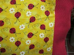 NEW LadyBugs on Yellow MINI Pillowcase kids/travel pillowcase | MadeAtNanas - Housewares on ArtFire