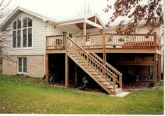 two story deck   TWO STORY ADDITION WITH CUSTOM DECK AND HOT TUB - Additions, Kitchens ...