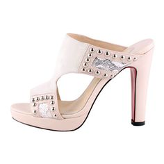 Christian Louboutin Hassaneta 120 Leather and Linen Sandals Pink