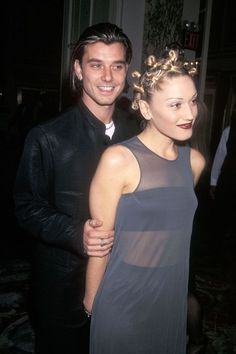 Gavin Rossdale & Gwen Stefani, 1998Love is dead, but this picture from a Grammy party will live forever. #refinery29 http://www.refinery29.com/2015/08/92489/90s-red-carpet-celebrity-pictures#slide-6
