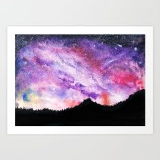 All of the Stars Not Seen  Art Print