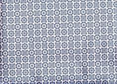 Vintage 1970s Wallpaper  Blue Grid Flowers Price by Pommedejour, $8.00