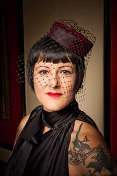 red polka dot pill box hat, rockabilly, retro, 1950's £39.99 http://www.emeraldangel.co.uk/ea377.html