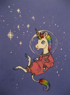 Astronaut Unicorn by CindarellaPop on deviantART