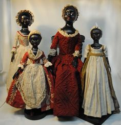 A collection of beautiful black dolls.