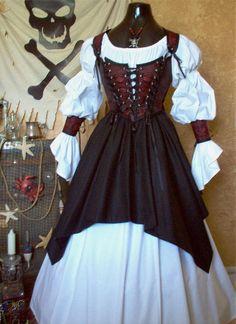 Different Fabrics Avail. Pirate Steampunk, Costume Steampunk, Steampunk Clothing, Steampunk Skirt, Gothic Steampunk, Steampunk Necklace, Victorian Gothic, Gothic Lolita, Renaissance Fair Costume