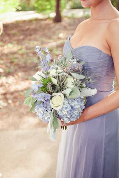 Periwinkle bridesmaid look: http://www.stylemepretty.com/illinois-weddings/monticello/2014/10/09/garden-wedding-in-monticello-il-at-allerton-park/ | Photography: Wright Photographs - http://www.wright-photographs.com/