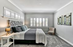 This home has been completely transformed with a parent's retreat featuring a large master, double vanity ensuite and huge WIR added.  #homerenovation #renovation #dreambedroom #bedroominspiration