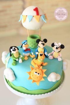 Baby mickey and friends birthday cake...bebek mickey ve arkadaşları doğum günü pastamız