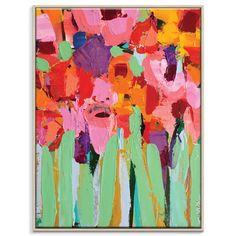 Anna Blatman | Field Of Flowers | Framed Canvas | 77.5x103.5x4.5cm by Anna Blatman by Artist Lane on THEHOME.COM.AU