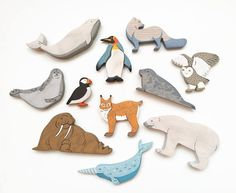 Arctic Animals set 11pcs Nordic toys North Polar animals