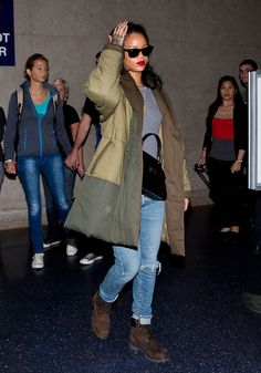 Rihanna's new shoe collection for Manolo Blahnik was inspired by Timberland boots.