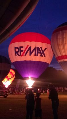 Balloon glow at the 2013 Alabama Jubilee Hot Air Balloon classic. #REMAXPlatinum #Alabama #RealEstate #hotairballoon