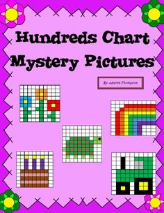 Hundreds Chart Fun - 24 mystery pictures!
