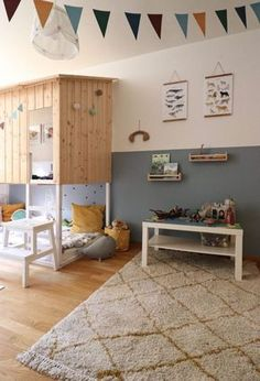 Come in, but be careful: freshly painted! Our children's room makeover – large … - Kinderzimmer Chambre Nolan, Terrasse Design, Parents Room, Canapé Design, Kidsroom, Decoration, Baby Room, Playroom, New Homes