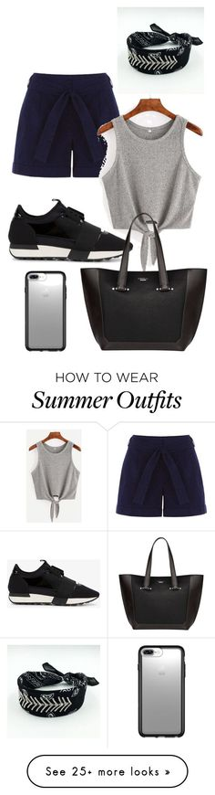 Summer Outfits : Casual by giulia-ostara-re on Polyvore featuring Balenciaga Fiorelli and Spec
