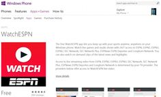 Windows Phone Gets Support For WatchESPN Streaming App