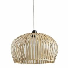 Abat-jour en bambou naturel, fourni sans équipement électrique.Dimensions : Ø 34cm.