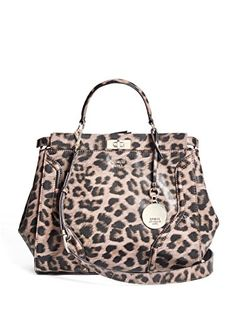 GUESS Georgie LeopardPrint Satchel * To view further for this item, visit the image link. Guess Handbags, Coin Bag, Leather Satchel, Evening Bags, Louis Vuitton Damier, Purses And Bags, Crossbody Bag, Shoulder Bag, Wallet