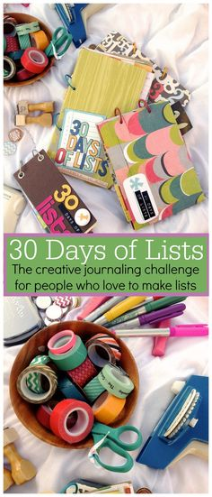 '30 Days of Lists: the creative journaling challenge for people who love to make lists...!'