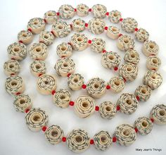 Rolled Paper Garland Upcycled from Romance by MaryJeansThings, $35.00