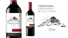 Rebranding Proposal for Frontera Wine – inspirationpatterns Wind Rose, Proposal, Wines, Graphic Design, Bottle, Blog, Shells, Flask