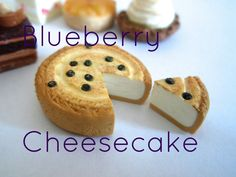 How to make a miniature baked blueberry cheesecake from polymer clay, Enjoy! Requests are welcome, let me know what you would like to see next I N S T A G R ...