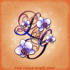 orchid #tattoo #monogram GL