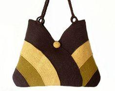 Uncinetto borsa a mano tracolla moda autunno borsa a di RUMENA