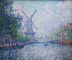 1906, Rotterdam, (Morning on the Canal), Paul Signac