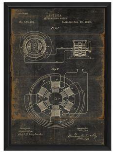 N. Tesla Alternating Motor  Patented Feb, 25, 1896