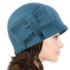 Dahlia Women's Vintage Large Bow Wool Cloche Bucket Hat - Teal Blue Dahlia,http://www.amazon.com/dp/B0063VVO6Y/ref=cm_sw_r_pi_dp_uLsNsb1Y1ZVDETB3