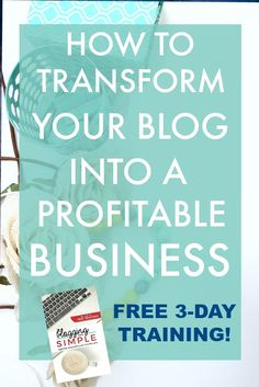 If you are a blogger, you know all too well how overwhelming it can feel to juggle the day-to-day demands of writing a blog with the big-picture strategy of creating a profitable business. This FREE 3-day video training will help with all of that!! Grab your spot now!