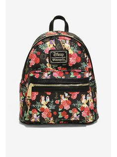 Loungefly Disney Beauty And The Beast Belle Floral Mini Backpack d7b1a347e13ae